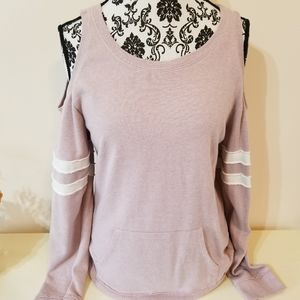 Maurices Open Shoulder Sweatshirt
